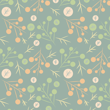 Green Branches fabric by bojudesigns on Spoonflower - custom fabric