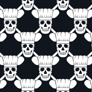 Chef Skull Design in Black