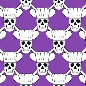 Chef Skull Design in Purple