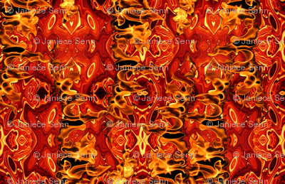 On Fire costuming fabric