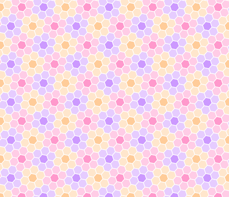 S633X hex flowers fabric by sef on Spoonflower - custom fabric