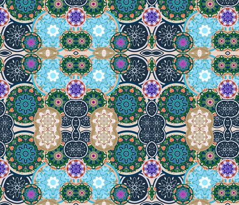 Japanese Flower Garden fabric by flyingfish on Spoonflower - custom fabric