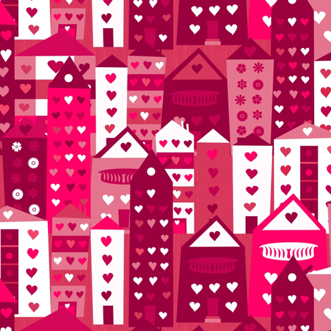 city in love fabric by anastasiia-ku on Spoonflower - custom fabric