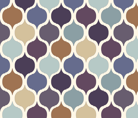 Moroccan Tile Print - Purples & Blues fabric by gail_mcneillie on Spoonflower - custom fabric