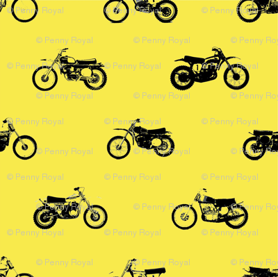 Classic motorcross bikes in yamaha yellow