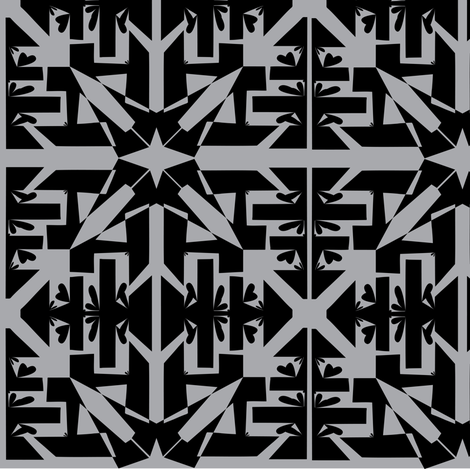art deco geometric  fabric by rcm-designs on Spoonflower - custom fabric