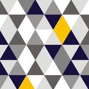 Geo Mod Navy Yellow Grey