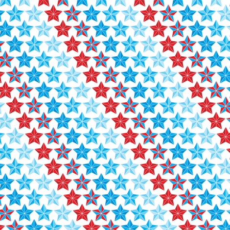 Stars in Stripes fabric by ebygomm on Spoonflower - custom fabric