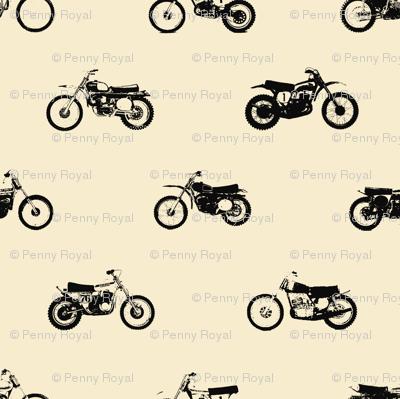 Classic motorcross cream