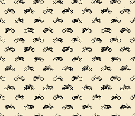 Classic motorcross cream fabric by smuk on Spoonflower - custom fabric