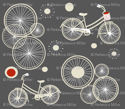 bicycles and wheels in gray