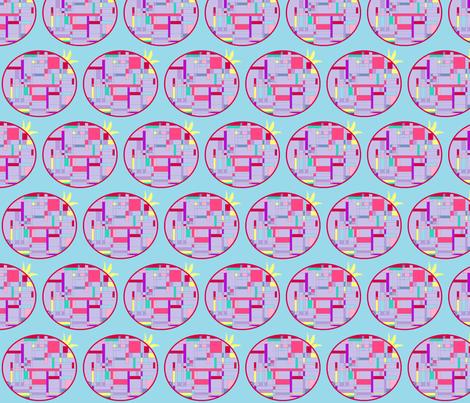 Pomegranite_grid fabric by podaiboo on Spoonflower - custom fabric