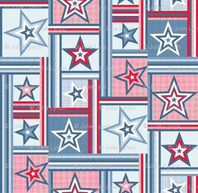 patchwork stars and stripes red