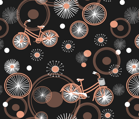 bicycles and wheels two fabric by rcm-designs on Spoonflower - custom fabric