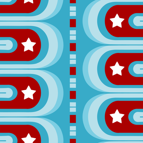 Stars and stripes groove fabric by thirdhalfstudios on Spoonflower - custom fabric