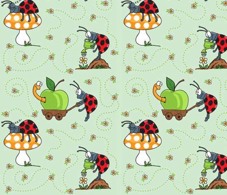 Ladybug's Day fabric by holladay on Spoonflower - custom fabric
