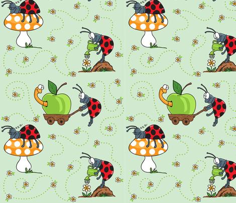 Ladybug's Day fabric by holladay on Spoonflower - custom fabric