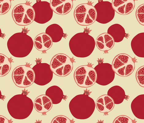 pomegranates fabric by einekleinedesignstudio on Spoonflower - custom fabric