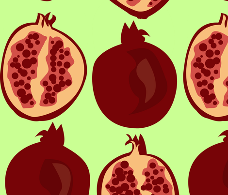 Pomegranates fabric by periwinklepaisley on Spoonflower - custom fabric
