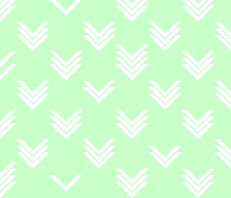 White Mint Chevrons fabric by candyjoyce on Spoonflower - custom fabric
