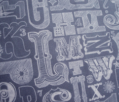 Woodtype Alphabet (Chalk)