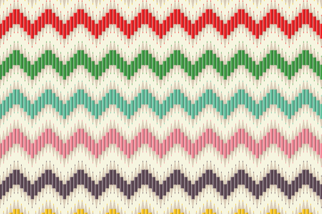 Rainbow Pencil Chevron Stripe fabric by candyjoyce on Spoonflower - custom fabric