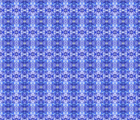 small blue hydrangea fabric by penelopeventura on Spoonflower - custom fabric