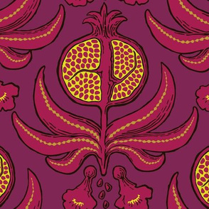 Pomegranate Damask