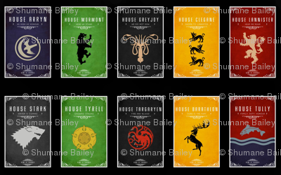 game of thrones houses