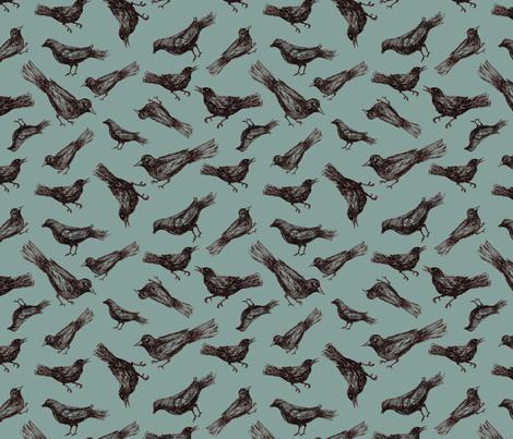 Birds & Branches - birds only fabric by danab78 on Spoonflower - custom fabric
