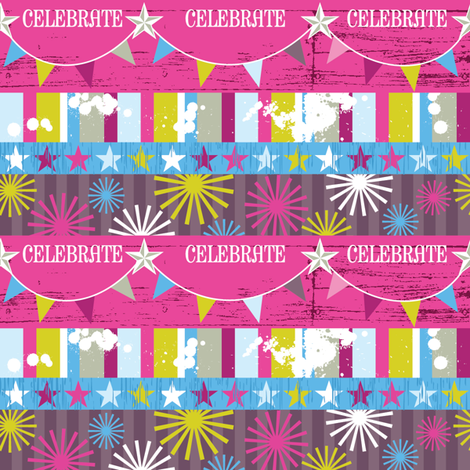 A Celebration with Stars and Stripes fabric by cynthiafrenette on Spoonflower - custom fabric