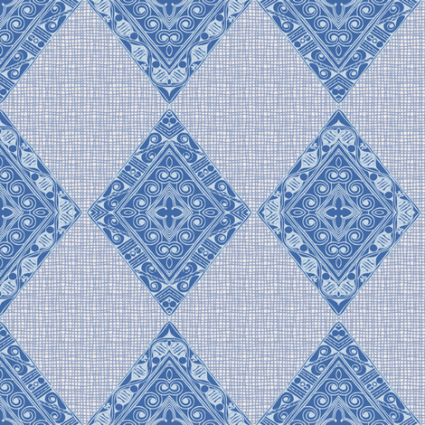 diamonds in blue jeans fabric by keweenawchris on Spoonflower - custom fabric