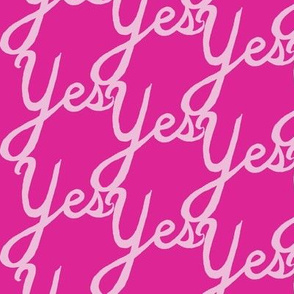 YES (cursive)