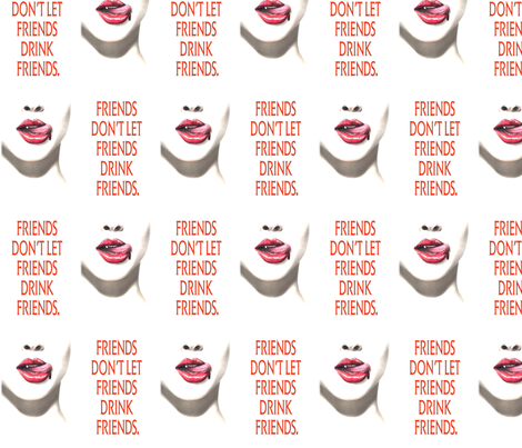 true blood friends fabric by geekinspirations on Spoonflower - custom fabric