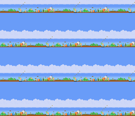 old school mario brothers fabric by geekinspirations on Spoonflower - custom fabric