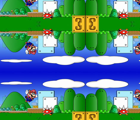 Super Mario 3 fabric by geekinspirations on Spoonflower - custom fabric