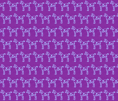 Purple Ponies fabric by ragan on Spoonflower - custom fabric