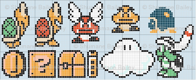 super mario brothers character pattern