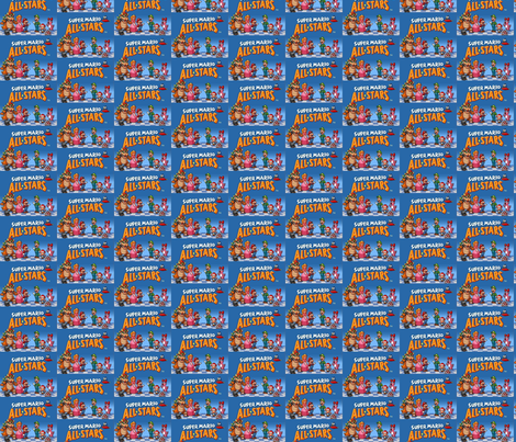 super mario allstars fabric by geekinspirations on Spoonflower - custom fabric
