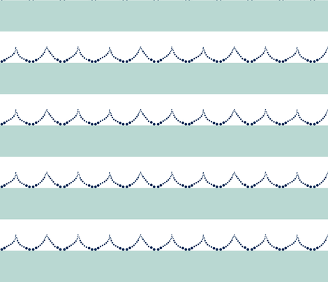 Mint Wave Stripe fabric by mgterry on Spoonflower - custom fabric