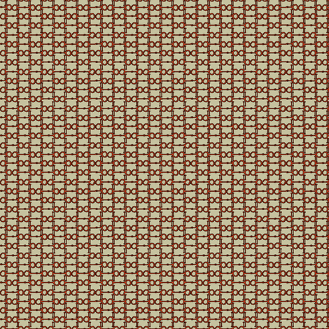 Bitty Bits - khaki and red fabric by ragan on Spoonflower - custom fabric