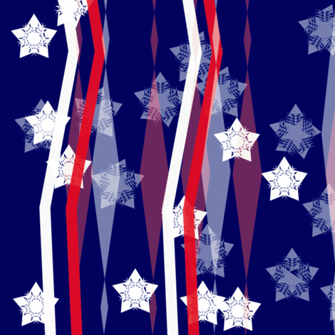 Red, white and blue celebration fabric by wordfabric on Spoonflower - custom fabric