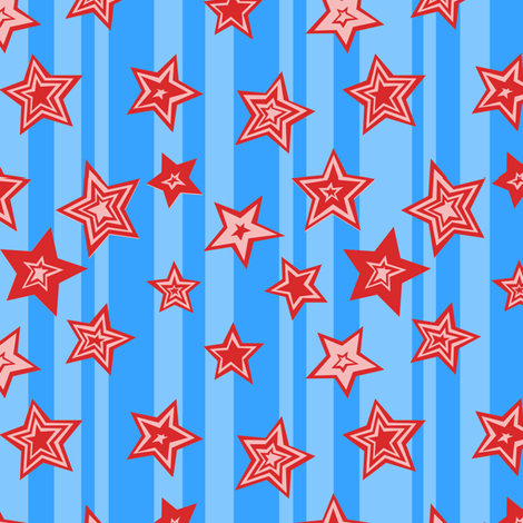 Stars_and_Stripes_Ditsy fabric by kerrycar on Spoonflower - custom fabric