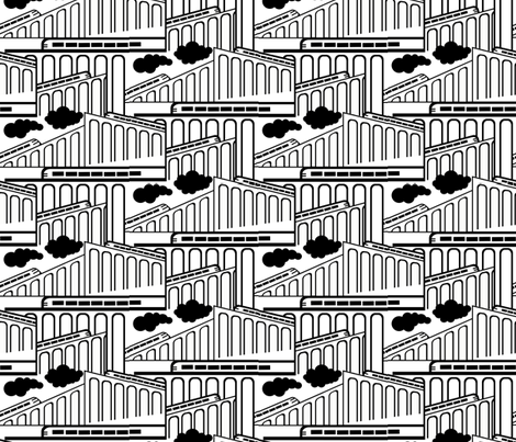 train_pattern fabric by lusyspoon on Spoonflower - custom fabric