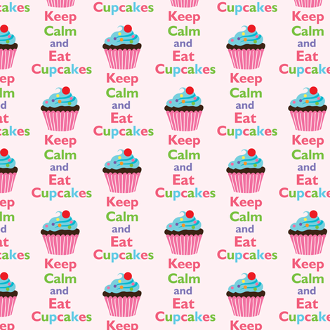Keep Calm and Eat Cupcakes 7 fabric by andibird on Spoonflower - custom fabric