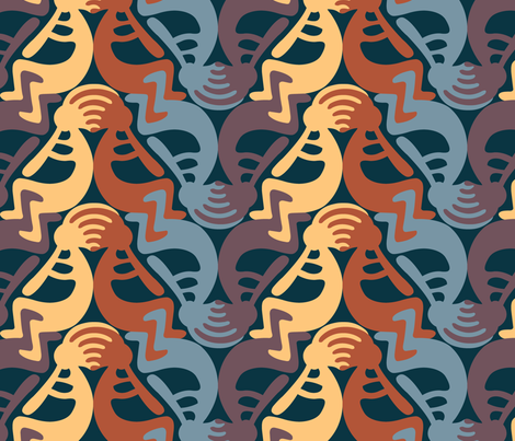 Kokopelli Earth fabric by andrea11 on Spoonflower - custom fabric
