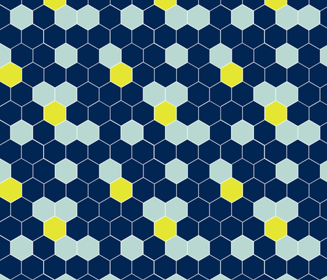 navy honey comb fabric by mgterry on Spoonflower - custom fabric