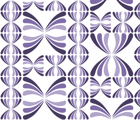 Retro Geometric - Purple fabric by sammyb on Spoonflower - custom fabric