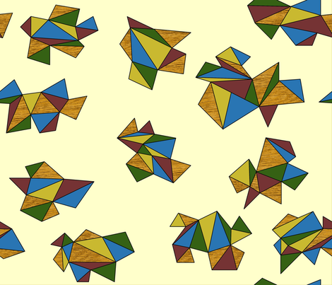 geometric folds on neutral fabric by spacefem on Spoonflower - custom fabric