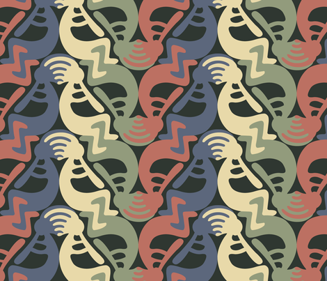 Kokopelli Earth2 fabric by andrea11 on Spoonflower - custom fabric